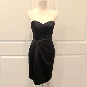 David's Bridal Short Strapless Satin Dress Size 2